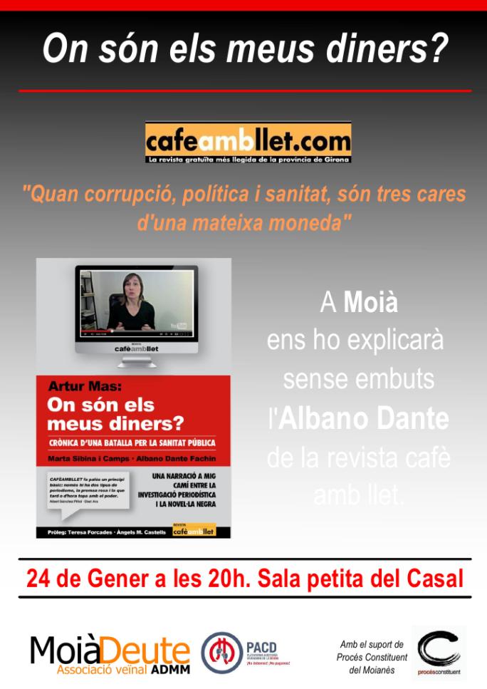 Cafe amb llet a Moià
