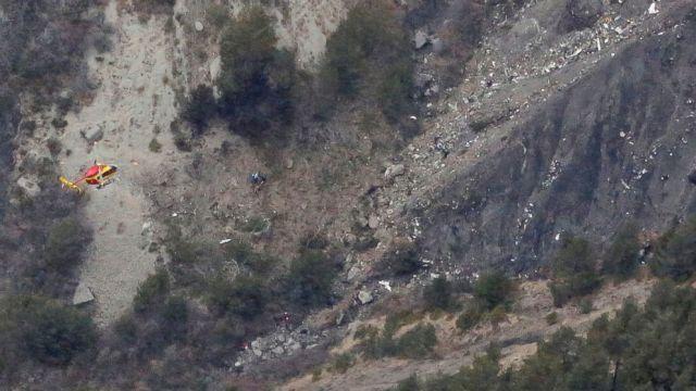 Restos del accidente. El avión prácticamente se desintegró.